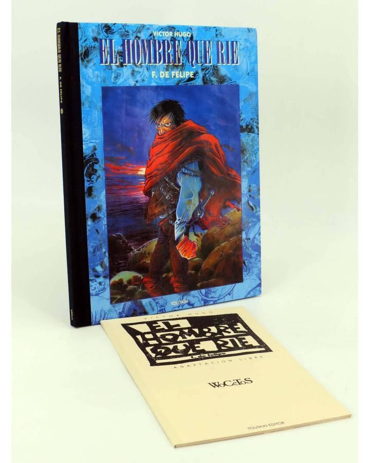 Cubierta de EL HOMBRE QUE RÍE + CUADERNO WOCETOS (Víctor Hugo / Fernando De Felipe) Toutain editor 1992