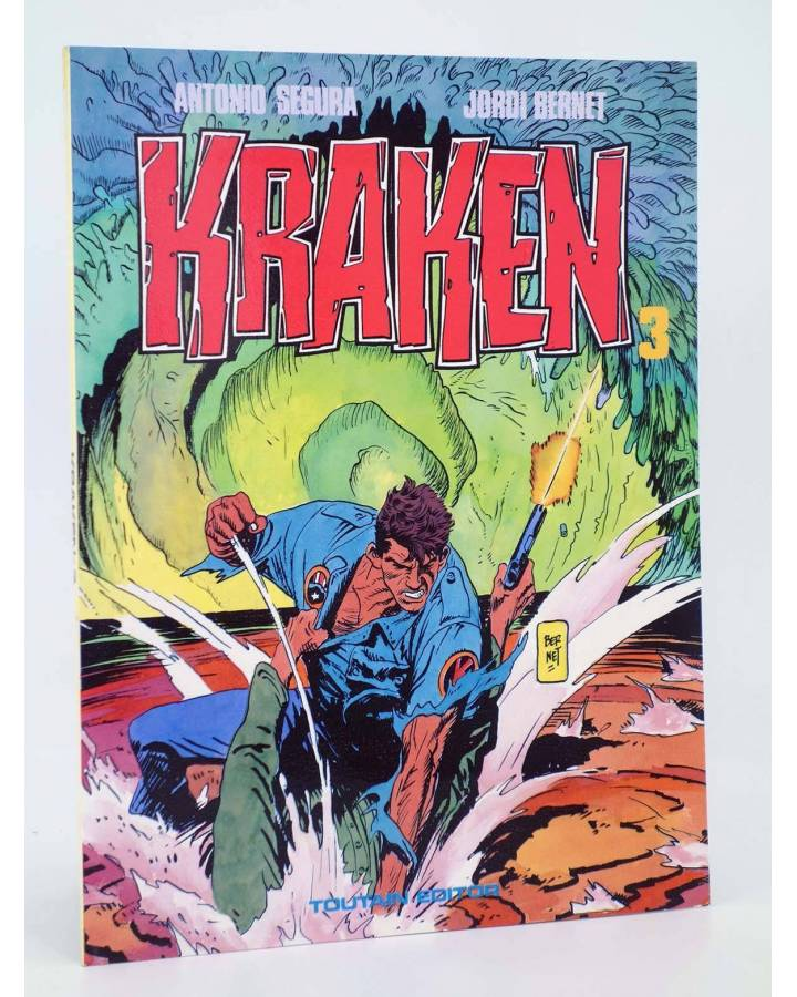 Cubierta de KRAKEN 3 (Antonio Segura / Jordi Bernet) Toutain editor 1989