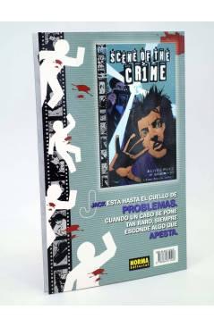 Contracubierta de LA ESCENA DEL CRIMEN 1 Y 2. COMPLETA (Brubaker / Michael Lark / S. Philips) Norma 1999