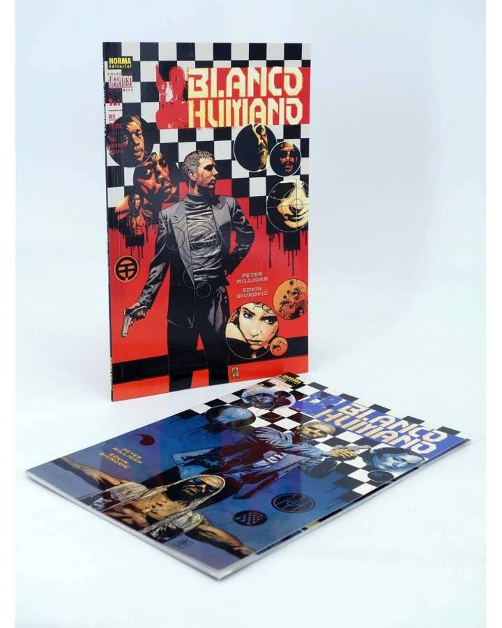 Cubierta de BLANCO HUMANO 1 Y 2. COMPLETA (Peter Milligan / Edvin Biukovic) Norma 2000