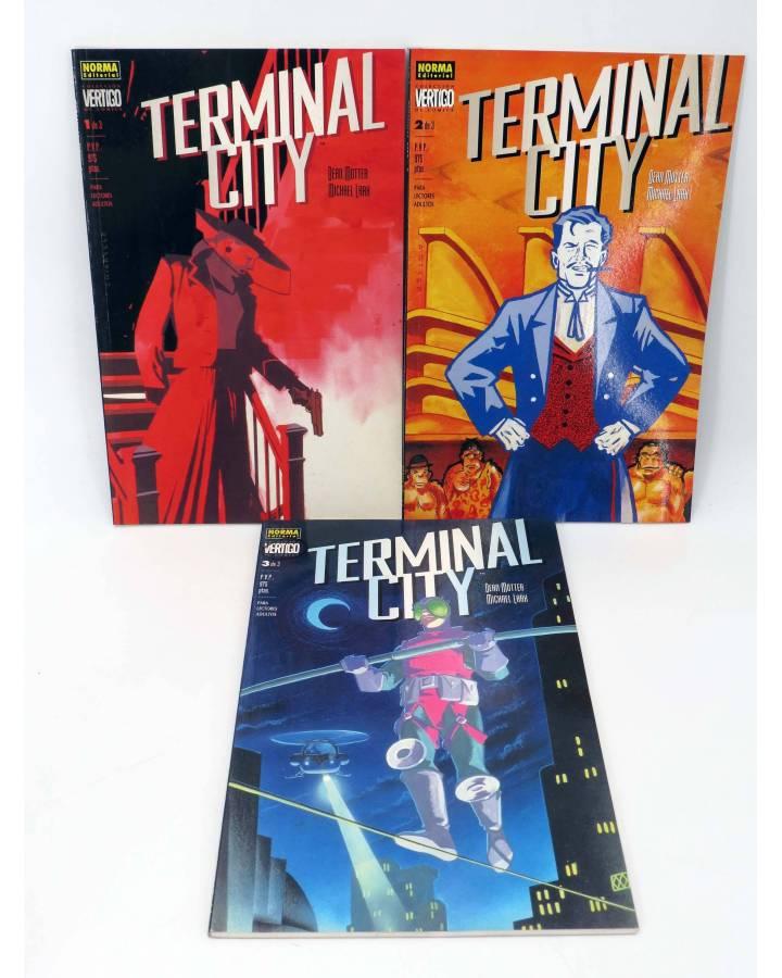 Cubierta de TERMINAL CITY 1 2 y 3. COMPLETA (Dean Motter / Michael Lark) Norma 1999