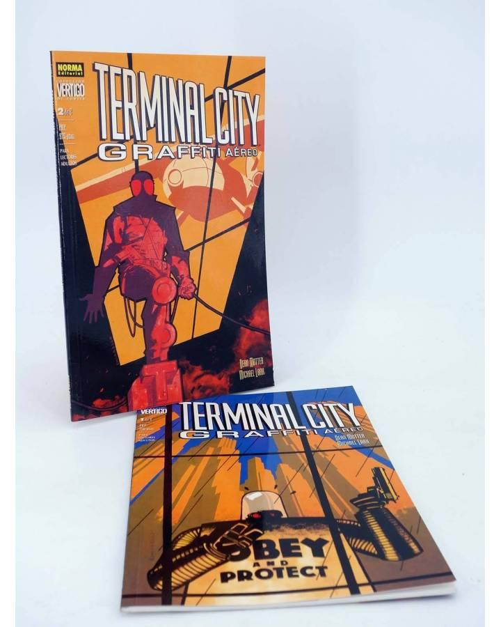Cubierta de TERMINAL CITY GRAFFITI AEREO 1 Y 2. COMPLETA (Dean Motter / Michael Lark) Norma 2000