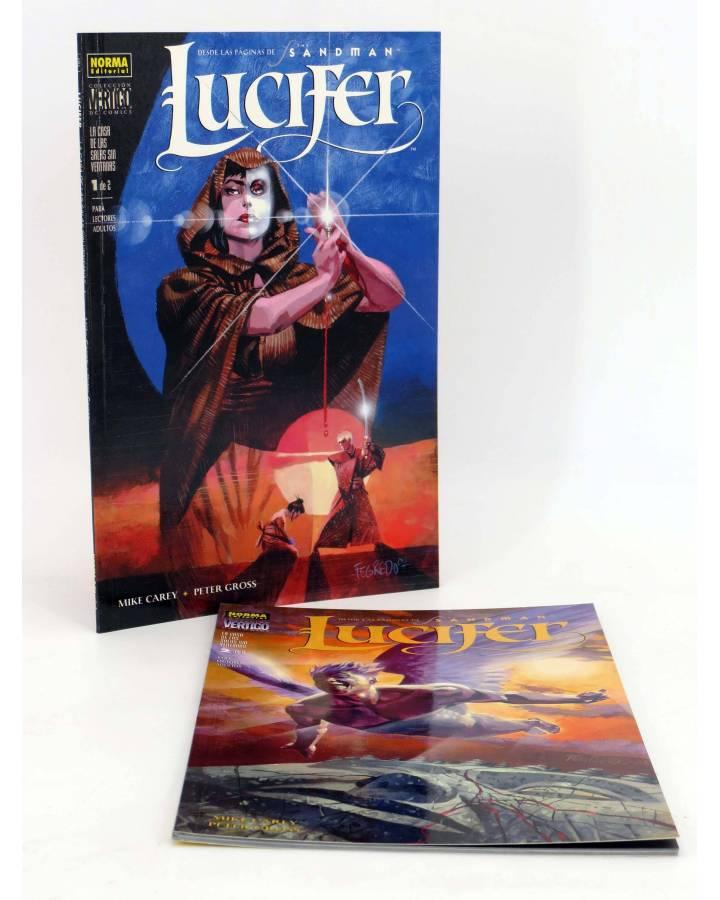 Cubierta de LUCIFER CASA SALAS SIN VENTANAS 1 Y 2. COMPLETA (Mike Carey / Peter Gross) Norma 2001