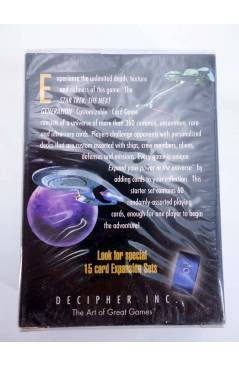 Contracubierta de STAR TREK THE NEXT GENERATION 60 CARD STARTER DECK. CUSTOMIZABLE CARD GAME (No Acreditado) Decipher 19