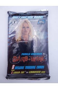 Cubierta de PAMELA ANDERSON IS BARB WIRE SOBRE CON 8+1 DELUXE TRADING CARDS (No Acreditado) Topps / Dark Horse 1996