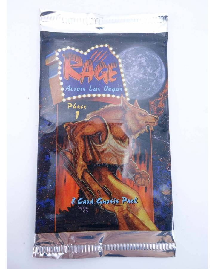 Cubierta de RAGE ACROSS LAS VEGAS PHASE 1 8 CARDS GNOSIS PACK (Vvaa) White Wolf / Five Rings 1998