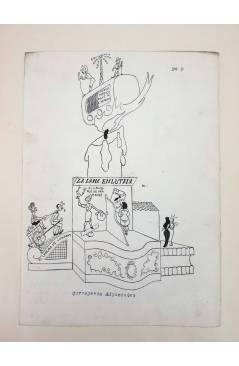 Cubierta de DIBUJO ORIGINAL 34X22 CM FALLAS VALENCIA 1954 9. CORREGERÍA ADYACENTES (No Acreditado) Valencia 1954