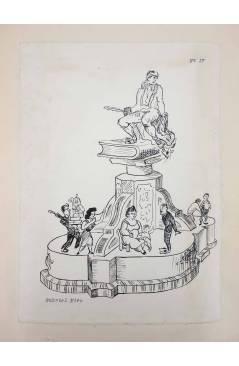 Cubierta de DIBUJO ORIGINAL 34X22 CM FALLAS VALENCIA 1954 17. GABRIEL MIRO (No Acreditado) Valencia 1954