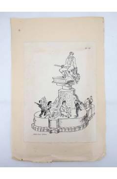Contracubierta de DIBUJO ORIGINAL 34X22 CM FALLAS VALENCIA 1954 17. GABRIEL MIRO (No Acreditado) Valencia 1954