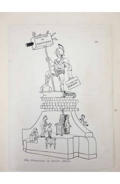 Cubierta de DIBUJO ORIGINAL 34X22 CM FALLAS VALENCIA 1954 64. SAN FRANCISCO DE BORJA – JESÚS (No Acreditado) Valencia 19