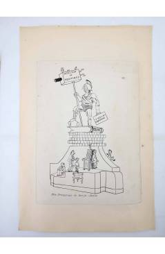 Contracubierta de DIBUJO ORIGINAL 34X22 CM FALLAS VALENCIA 1954 64. SAN FRANCISCO DE BORJA – JESÚS (No Acreditado) Valen