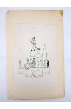 Contracubierta de DIBUJO ORIGINAL 34X22 CM FALLAS VALENCIA 1954 82. SIN NOMBRE DE CALLE (No Acreditado) Valencia 1954