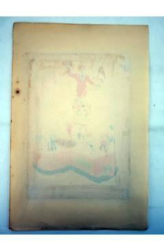 Muestra 1 de DIBUJO ORIGINAL 34X22 CM FALLAS VALENCIA 1954 134. AVDA JOSÉ ANTONIO – DR SUNSI. COLOR EN REVERSO (No Acred