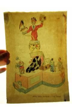 Muestra 2 de DIBUJO ORIGINAL 34X22 CM FALLAS VALENCIA 1954 134. AVDA JOSÉ ANTONIO – DR SUNSI. COLOR EN REVERSO (No Acred