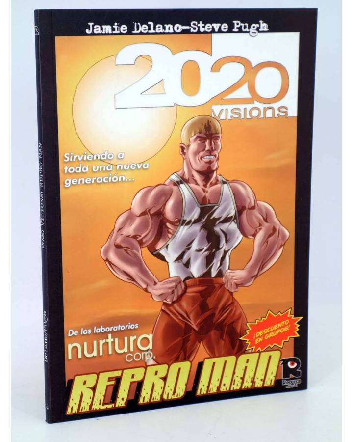 Cubierta de 2020 VISIONS 4. REPRO MAN (Jamie Delano / Steve Pugh) Recerca 2005