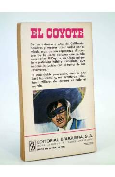 Contracubierta de EL COYOTE 104. LA GLORIA DE DON GOYO (José Mallorquí) Bruguera 1971