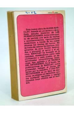 Contracubierta de MUTANTE 3. LAS PERSECUCIONES. TÉCNICA DEL EXTERMINIO (Alexis Barclay) Antalbe 1970