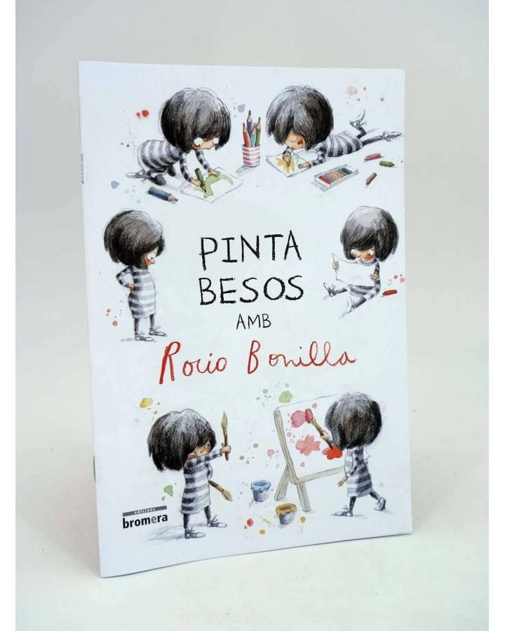Cubierta de CATÁLOGO Y CUADERNO DE PINTAR PINTA BESOS (Rocío Bonilla) Bromera 2015