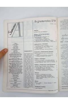 Muestra 1 de REVISTA ARGUMENTOS 19. ENERO (Vvaa) Pronto 1979