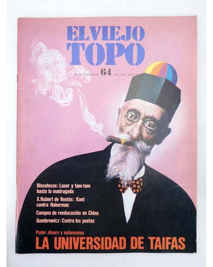 Cubierta de EL VIEJO TOPO 64. REVISTA MENSUAL. ENERO 1982 (Vvaa) Ediciones 2001 1982