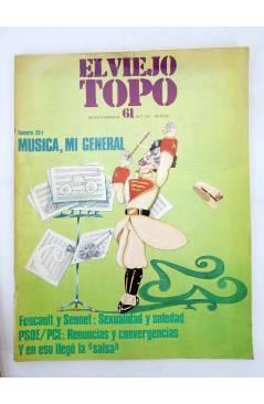 Cubierta de EL VIEJO TOPO 61. REVISTA MENSUAL. OCT 1981 (Vvaa) Ediciones 2001 1981