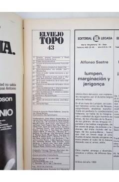 Contracubierta de EL VIEJO TOPO 43. REVISTA MENSUAL. ABRIL 1980 (Vvaa) Ediciones 2001 1980