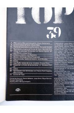 Contracubierta de EL VIEJO TOPO 39. REVISTA MENSUAL. DICIEMBRE 1979 (Vvaa) Ediciones 2001 1979