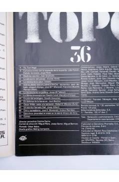 Contracubierta de EL VIEJO TOPO 36. REVISTA MENSUAL. SEPT 1979 (Vvaa) Iniciativas Editoriales 1979