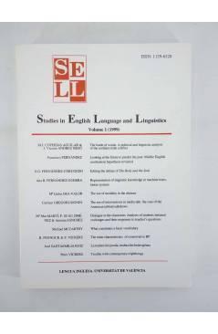 Contracubierta de SELL STUDIES IN ENGLISH LANGUAGE AND LINGUISTICS 1 A 4 Lengua Inglesa (Vvaa) Barcelona 1999