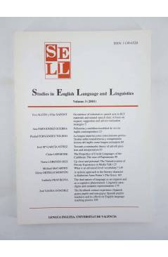 Muestra 2 de SELL STUDIES IN ENGLISH LANGUAGE AND LINGUISTICS 1 A 4 Lengua Inglesa (Vvaa) Barcelona 1999