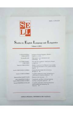 Muestra 4 de SELL STUDIES IN ENGLISH LANGUAGE AND LINGUISTICS 1 A 4 Lengua Inglesa (Vvaa) Barcelona 1999