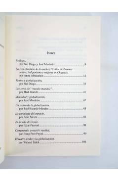 Contracubierta de TEATRO Y GLOBALIZACIÓN. ACCCIÓN TEATRAL DE LA VALLDIGNA VI (José Monleón / Nel Diago) Universitat de B