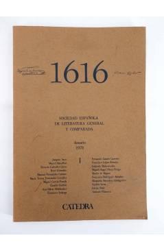 Contracubierta de 1616 MIL SEISCIENTOS DIECISÉIS I. ANUARIO 1978 1978 (Vvaa) Facultad de Filología UCM 1978