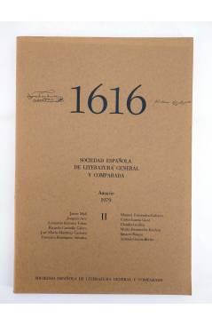 Contracubierta de 1616 MIL SEISCIENTOS DIECISÉIS II. ANUARIO 1979 1979 (Vvaa) Facultad de Filología UCM 1979