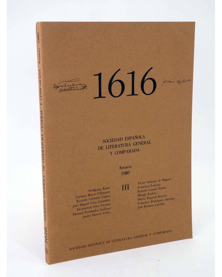 Cubierta de 1616 MIL SEISCIENTOS DIECISÉIS III. ANUARIO 1980 1980 (Vvaa) Facultad de Filología UCM 1980