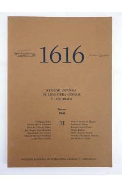 Contracubierta de 1616 MIL SEISCIENTOS DIECISÉIS III. ANUARIO 1980 1980 (Vvaa) Facultad de Filología UCM 1980