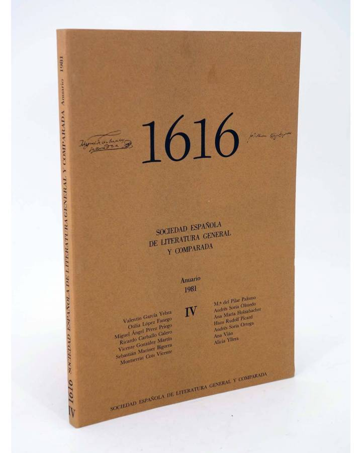 Cubierta de 1616 MIL SEISCIENTOS DIECISÉIS IV. ANUARIO 1981 1981 (Vvaa) Facultad de Filología UCM 1981