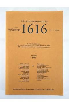Contracubierta de 1616 MIL SEISCIENTOS DIECISÉIS X. ANUARIO 1996 1996 (Vvaa) Facultad de Filología UCM 1996