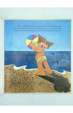 Contracubierta de COLECCIÓN MANZANA MÁGICA. E TENÍA SOMBRA DE SIRENA (L Castañón / M Villacampa) Júcar 1987