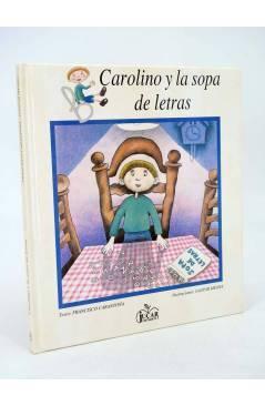 Cubierta de COLECCIÓN MANZANA MÁGICA. LA SOPA DE LETRAS (Fco Carantoña / Gaspar Meana) Júcar 1987