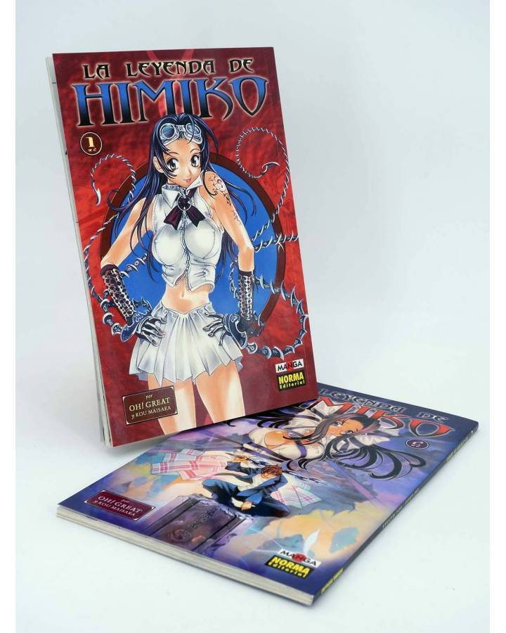 Cubierta de LEYENDA DE HIMIKO 1 Y 2. COMPLETA. MANGA (Oh Great / Kou Maisaka) Norma 2002