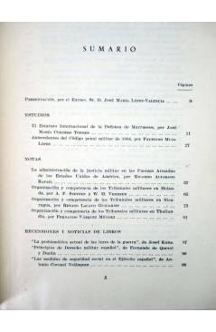 Contracubierta de REVISTA ESPAÑOLA DE DERECHO MILITAR LOTE DE 30 NºS + INDICE 1956 A 1979 (Vvaa) CSIC 1956