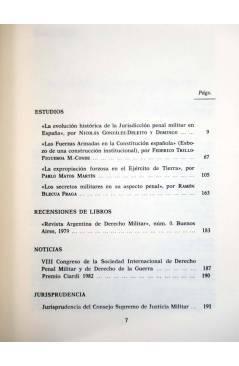 Muestra 3 de REVISTA ESPAÑOLA DE DERECHO MILITAR LOTE DE 30 NºS + INDICE 1956 A 1979 (Vvaa) CSIC 1956