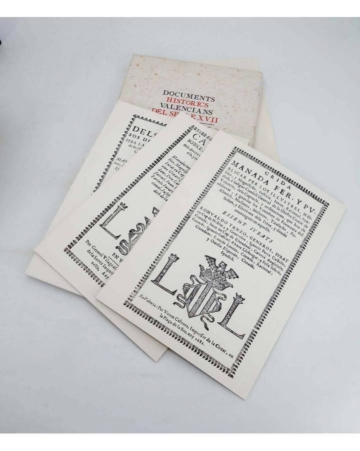 Cubierta de DOCUMENTS HISTÓRICS VALENCIANS DEL SEGLE XVII. COMERÇ MESURES Y OFICIS (Vvaa) Ajuntament de Valencia 1995