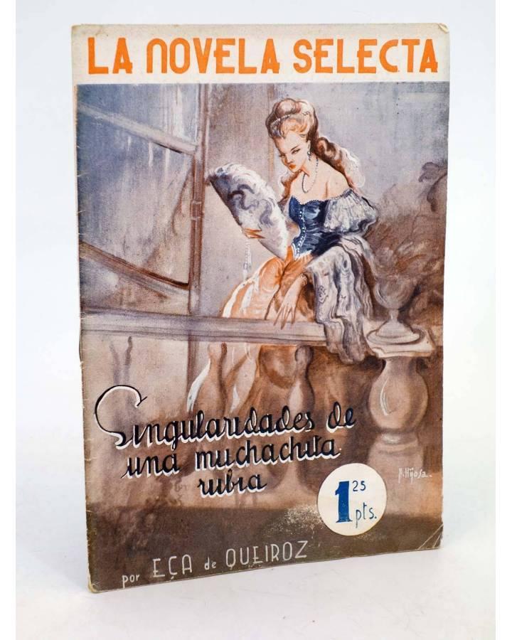 Cubierta de LA NOVELA SELECTA 2. SINGULARIDADES DE UNA MUCHACHITA RUBIA (Eça De Queiroz) La Novela Selecta 1930