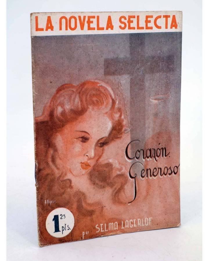 Cubierta de LA NOVELA SELECTA 6. CORAZÓN GENEROSO (Selma Lagerlof) La Novela Selecta 1930