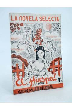 Cubierta de LA NOVELA SELECTA 13. EL HUÉSPED (Grazzia Deledda) La Novela Selecta 1930