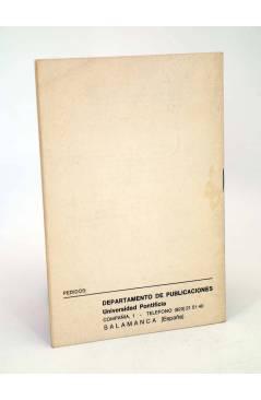 Contracubierta de CATÁLOGO DE PUBLICACIONES 1980 (Vvaa) Universidad Pontificia Salamanca 1980