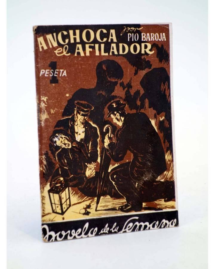 Cubierta de LA NOVELA DE LA SEMANA 2. ANCHOCA EL AFILADOR (Pío Baroja / Ils Balbuena) La Novela de la Semana 1942