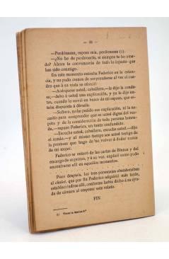 Contracubierta de LA NOVELA POPULAR. EL SUPLICIO DE UNA MUJER (Amadeo Garnier) La Novela Popular 1930